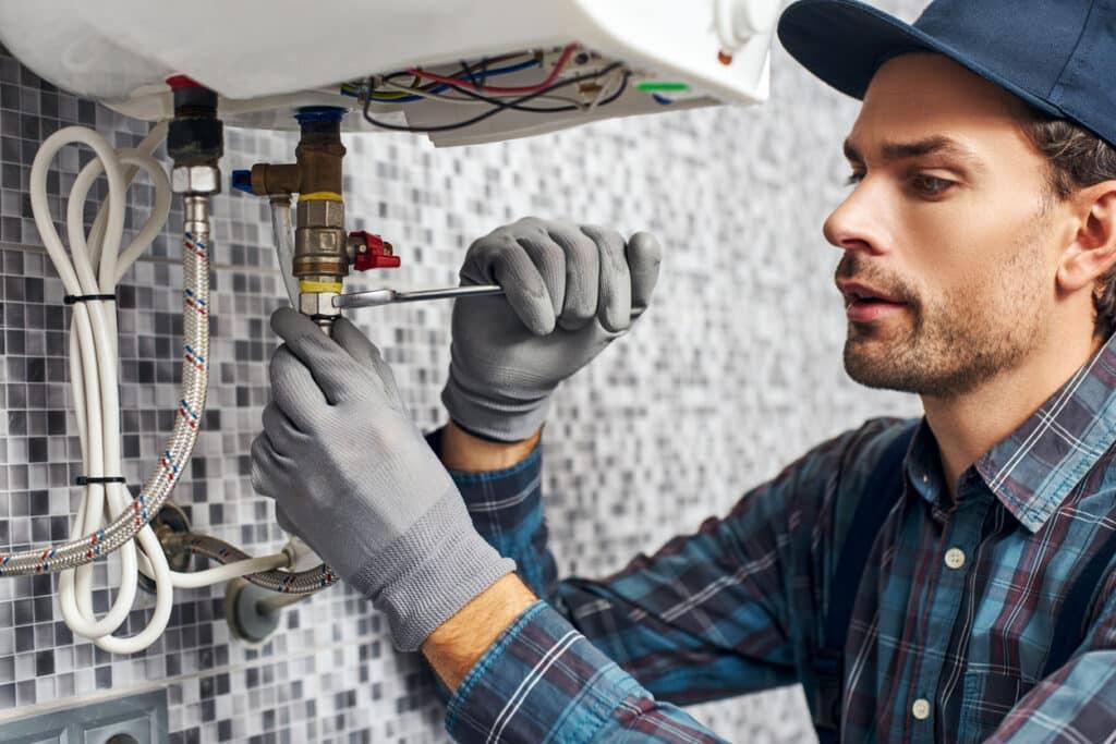 Tankless water heater installation